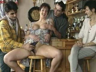 large titted mature fucked in a bar