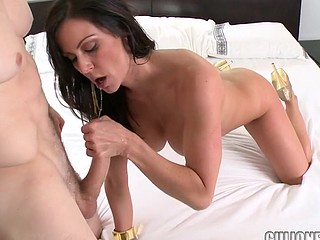 Capricious doll Kendra Lust is riding on his powerful erection